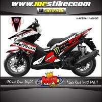 striping motor decal aerox 155 new desain Keren dan elegant