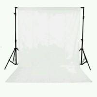 Backdrop Background Foto Putih Polos 200 x 300 Cm White Screen Tebal