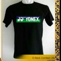 kaos oblong tshirt baju kaos YONEX batminton hitam M L,XL,XXL murah'