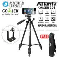 Attanta Kaiser 203 Video LightWeight Tripod DSLR Smartphone + Holder U