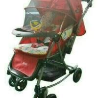 STROLLER BABY PLIKO PARIS 399 MERAH