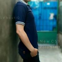 Polo Shirt New C59 Polos. Biru Dongker
