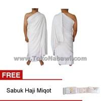 Kain Ihram Ihrom Pria Katun FREE Sabuk Haji Miqot