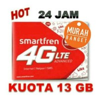 KARTU INTERNET SMARTFREN 13GB full 24 jam