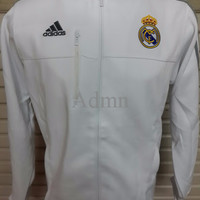 Jaket Bola Grade ORI Real Madrid Anthem White Official 2015-2016 - Har