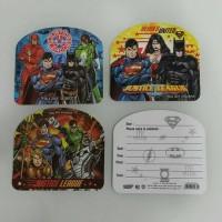 Kartu Undangan Ulang Tahun Superheroes Batman Superman Spiderman