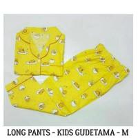(new) Terlaris    Baju Tidur Anak - Gudetama Kids Size Kecil Pajamas