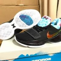 Sepatu basket Nike PG1 PG 1 EYBL Hitam Black Blue Gold Biru Emas