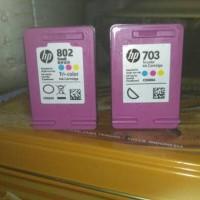 hp tinta 802&703 warna seken murah untuk 2 buah