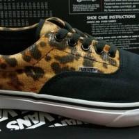 Sale !! Sepatu Vans Era Leopard Black Brown Hitam Coklat