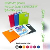 DISPLAY BOOK FOLIO SIZE 20POCKETS BANTEX 3183