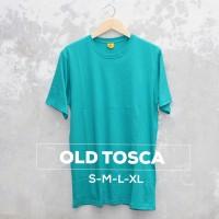 Baju Kaos Polos Oblong Bandung OLD TOSCA Hijau Toska cewek cowok