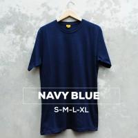 Baju Kaos Polos Oblong Bandung Blue Navy Pria wanita Dongker