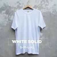 Baju Kaos Polos Oblong Bandung White Pria wanita Putih