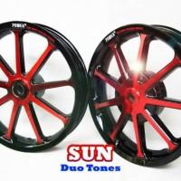 velg motor vario 125 dan vario 150 Power sun black red