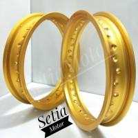 Velg Champ Gold - Black - Silver - Tapak Lebar 215 x 250 Ring 14
