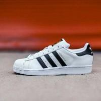 Sepatu Original Adidas Superstar Foundation Pack White List Black