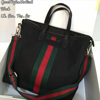 Tas wanita cewek branded handbag unik semi premium gucci office kanvas