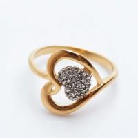 Ring Silver Emas Putih ASLI, Made in Korea, RL 167 (Garansi 6 bulan) B