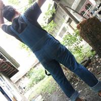 PROMO...!!! baju kodok jeans cowok celana lucu overall man jumper pria