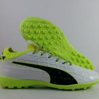 Sepatu Futsal Puma Evotouch 3 White Green Putih Hijau TF Premium Impor