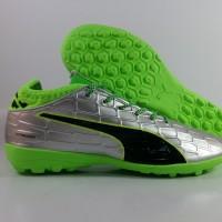 Sepatu Futsal Puma Evotouch 3 Silver Green Hijau TF Premium Impor