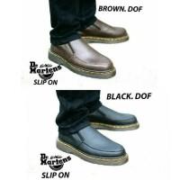 Dr. Marten Coklat Buck , Sepatu docmart low Pria Casual Murah