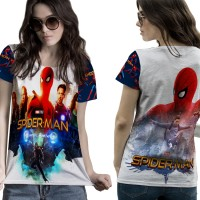 T-Shirt Kaos Wanita SPIDERMAN HOMECOMING 3D FullPrint 006