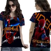T-Shirt Kaos Wanita SPIDERMAN HOMECOMING 3D FullPrint 001