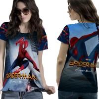 T-Shirt Kaos Wanita SPIDERMAN HOMECOMING 3D FullPrint 005