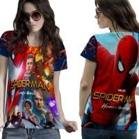 T-Shirt Kaos Wanita SPIDERMAN HOMECOMING 3D FullPrint 002