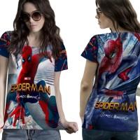 T-Shirt Kaos Wanita SPIDERMAN HOMECOMING 3D FullPrint 004