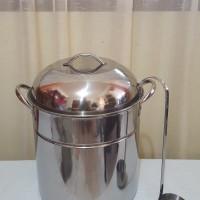 Supra 30QT Bakso Pot with Lid/ Panci Bakso Stainless