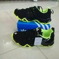 sepatu Adidas AX2 Man Import Premium Black Green Hijau Stabilo Running