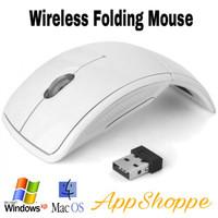 WIRELESS MOUSE ARC FOLDING USB 2.4Ghz WHITE