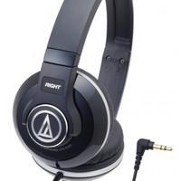 Audio -Technica ATH-S500 BK Street Monitoring Headphones – Hitam
