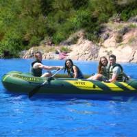Perahu Karet Seahawk 4 Boat Set With Oars And Air Pump - INTEX 68351