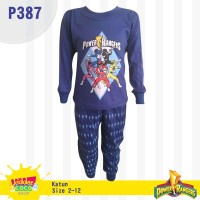 Setelan baju tidur anak laki-laki Power rangers (P387)
