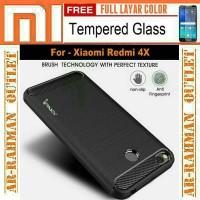 paket Xiaomi redmi 4x casing armor ipaky carbon case cover mi redmi4x