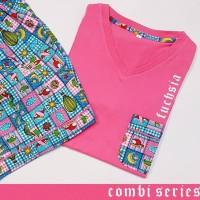 baju tidur wanita kaos combi-s cln bahan woven lgn pdk/cln seksi k. Fs