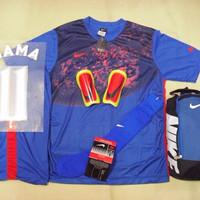 DISKON Setelan baju Futsal Bola Nike Galaxy Blue Red