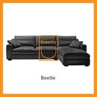 Ridente   Sofa L Minimalis Custom Tipe Beetle - Hitam