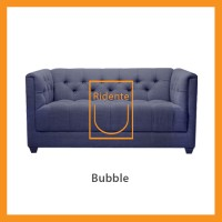 Ridente | Sofa Minimalis Custom 2 Seater Tipe Bubble - Ivory