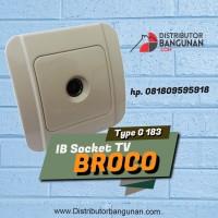 IB Socket Soket Stop Kontak Tv Antene Galleo Tv G-183 BROCO