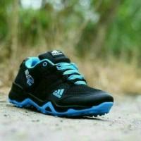 sepatu Adidas AX2 Man Import Premium Black Blue Biru Muda Running Cewe