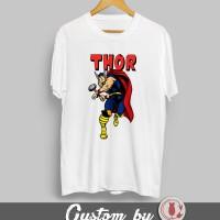 Baju Kaos MARVEL Thor 001  DTG Printing