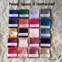 pocket square handkerchief sapu tangan jas polos banyak warna! ready
