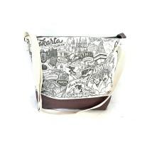 Tas Kanvas Selempang Oleh-Oleh Souvenir Jakarta Doodle crus