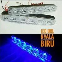 Lampu led DRL Bamper mobil nyala biru