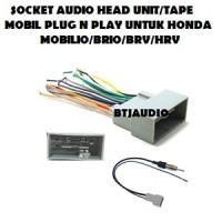 SOCKET/SOKET AUDIO/TAPE HEAD UNIT HONDA BRIO,MOBLIO,BRV,HRV